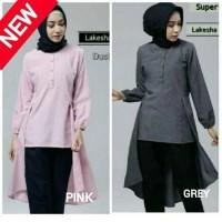 busana muslim/baju kerja wanita/gamis muslimah/blouse/lakesha/atasan