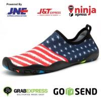 Sepatu Pantai, outdoor, gym, yoga dll. USA FLAG