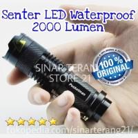 Pocketman Senter Mini LED CREE Waterproof 2000 Lumen Swat Police SP