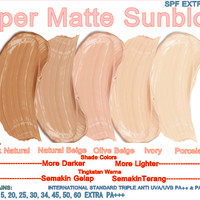 CREAM PEMUTIH WAJAH SUPER MATTE SPF 50 & 60 EXTRA ANTI UV PA+++