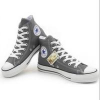 Sepatu Converse Allstar Hi Grey impor Vietnam untuk Cewek Cowok