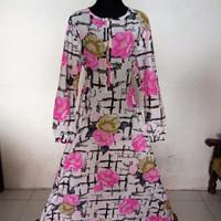 Baju gamis wanita muslim katun jepang murah terbaru 2018