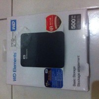 Hardisk Eksternal Merk WD 500GB Brand New