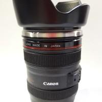 Gelas Mug Replika Lensa Kamera Canon EF 24-105mm tutup kembang