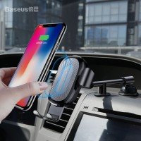 Baseus Car Mount Gravity Qi Wireless Fast Charging Dashboard Holder