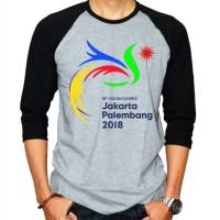 Kaos Asian Games Jakarta Palembang Tshirt Raglan Ajs559
