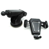 Promo !! Car Holder Smartphone Automobile - Hitam Holder Mobil Simpel