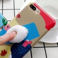 Promo Case Squishy Seal for iPhone 7/8/plus - cover pelindung hp lucu