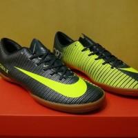 Best Seller! Sepatu Futsal Nike Mercurial Vapor XI CR7 Black Yellow -