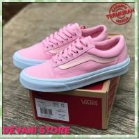Sepatu Casual Wanita Vans Old Skool Pink - Vans Old School PREMIUM