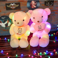 Teddy Bear Dolls Glowing Lights LED | Boneka Teddy Bear | Varian Love