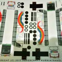 Pola Papercraft Bus Putra Pelangi SHD