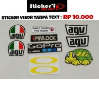 Sticker Visor Tanpa Text