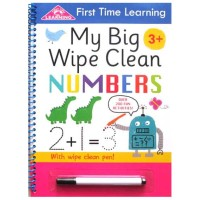 First Time Learning My Big Wipe Clean NUMBERS with wipe clean pen!