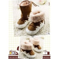 Prewalker Boot Brown 2 Model Tali Lipat Boy Girl Sepatu Bayi Lelaki Pe