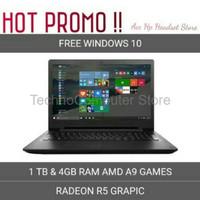 Laptop Lenovo Ideapad 110 14AST RAM 4GB HDD 1TB AMD A9 REDEON R5 BLA