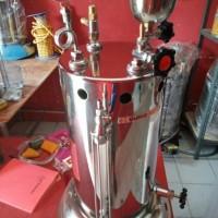 Setrika Uap Boiler Gas Quriomoto 15 Liter