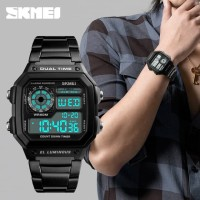 Jam Tangan Pria Dual Time SKMEI Casio Men Sport Original 1335 Anti Air