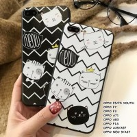 FOR OPPO F5/F5 YOUTH, F7, F3, A71, A83, F1S, A39/A57 -ZIG ZAG CAT CASE