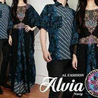 Couple Alvia Cantik Baju suami istri lebaran Kaftan Furing ramadhan