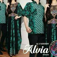 Couple Alvia Cantik Baju suami istri lebaran Kaftan Furing ramadhanijo