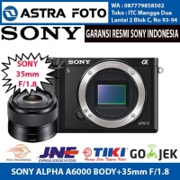 SONY ALPHA A6000 + LENSA 35mm F/1.8 OSS GARANSI RESMI SONY INDONESIA