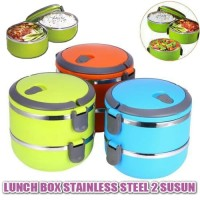 Lunchbox Stainless Polos 2 Susun / Rantang Stainless 2 Susun