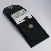 Gantungan Kunci Kulit - Dompet STNK dan SIM 2 Hitam
