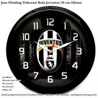 T2105 jam dinding pajangan dekorasi bola juventus 30 cm hitam 4f833fa504