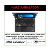 Lenovo Thinkpad X270 - i5 7200U-4GB-500GB-FHD-W10 Pro Black