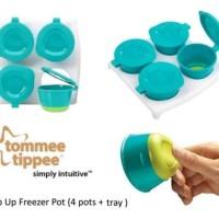 Pop Up Pots / 4 pcs wadah aman untuk microwave & frozen food + tray