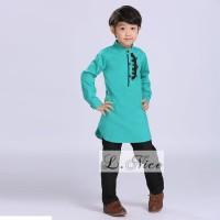Baju Muslim Anak Laki Warna Tosca Baju Koko Trendy Kekinian Branded