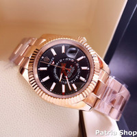 Jam Tangan Pria Merk Rolex Oyster Perpetual Day Date Automatic Free Ye