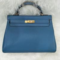 Tas Hermes Kelly Hk32 Original Leather Tote Bag Shoulder Bag Fashion