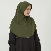 Kerudung Mezora / Jilbab / Bergo / Hijab Instan - BERGO SEROJA - Hijau Tua