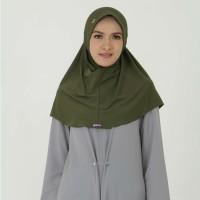 Kerudung Mezora / Jilbab / Bergo / Hijab Instan - BERGO YASMIN - Hijau Tua