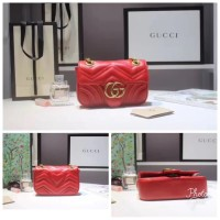 d71beedf6617 PERFECT Gucci GG Marmont Flap Bag Lambskin Mirror Quality / Tas