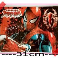 puzzle mainan anak karakter spiderman seri kedua kut