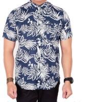 kemeja batik tribal lengan pendek pria / baju cowok motif batik pendek
