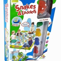 SNAKE AND LADDER KARPET 5834- MAINAN BOARD GAME ULAR TANGGA