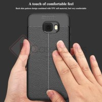Samsung Galaxy C5 Pro - Leather Armor Soft Case Casing Cover Kulit