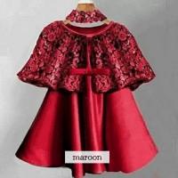 Dress Cape Kiddy/dress pesta anak/dress anak murah/baju pesta anak
