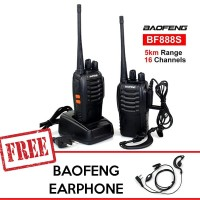 Baofeng BF-888S / BF888s Walkie Talkie Walky Talky Handy Talky - Hitam