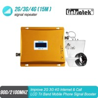 Lintratek GSM 2G/3G Dual Band Penguat Sinyal Repeater 900/2100Mhz