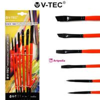 V-Tec Artist Brush 9048 Set 6 / Kuas Lukis Set isi 6