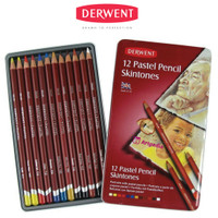 Derwent Pastel Pencil Skintones 12 / Pastel Pencil Skintone Tin of 12