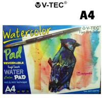 V-Tec Watercolor Pad A4 - 12 lembar (300 gsm)