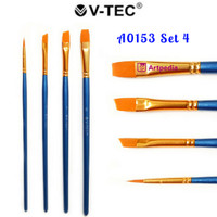 V-Tec Brush A0153 Set 4 / Kuas Lukis Set 4
