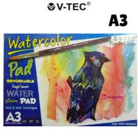 V-Tec Watercolor Pad A3 - 12 lembar (300 gsm)
