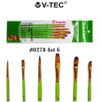 V-Tec Brush A0278 Set 6 / Kuas Lukis Set 6